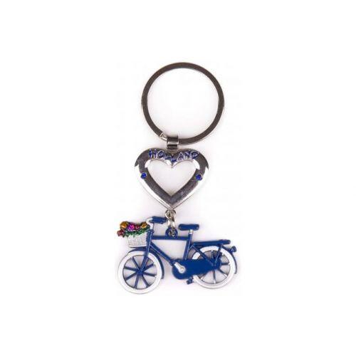 Sleutelhanger Holland blauw met hart