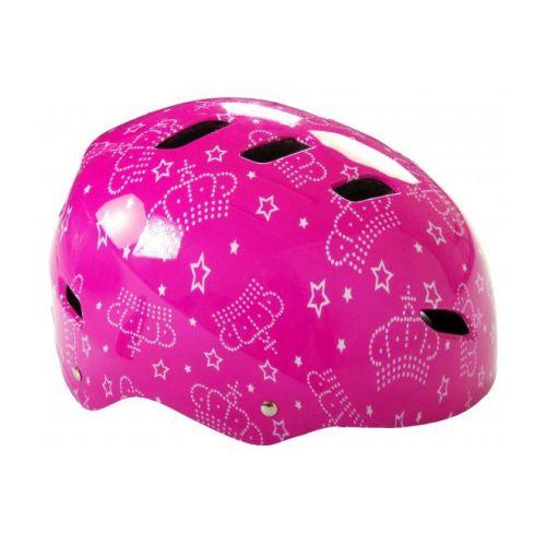 Volare fiets skatehelm roze 55-57 cm