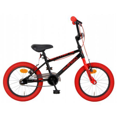 Extreme 16 Inch 25,4 cm Junior V-Brakes Zwart/Rood