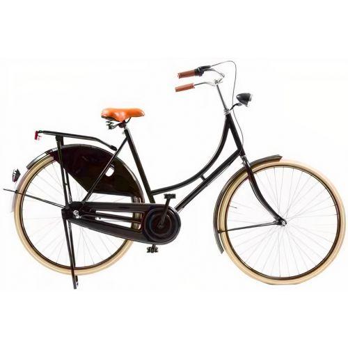 Classic De Luxe 28 Inch 57 cm Dames 3V Trommelrem Zwart