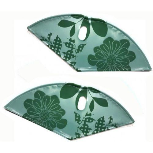 jasbeschermerset lakdoek 28 inch 57 cm bloemen groen