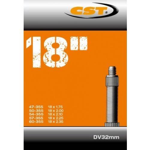 binnenband 18 x 1.75 (47/60-355) DV 32 mm zwart