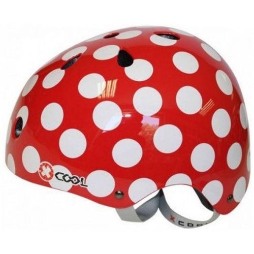fietshelm Polka rood maat 48/54 cm