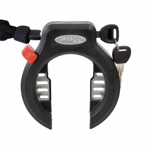 ringslot met plug-in ketting 90 cm x 5,5 mm staal zwart