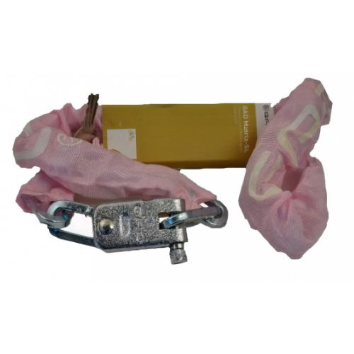kettingslot Matrix SL 110 cm staal/messing roze
