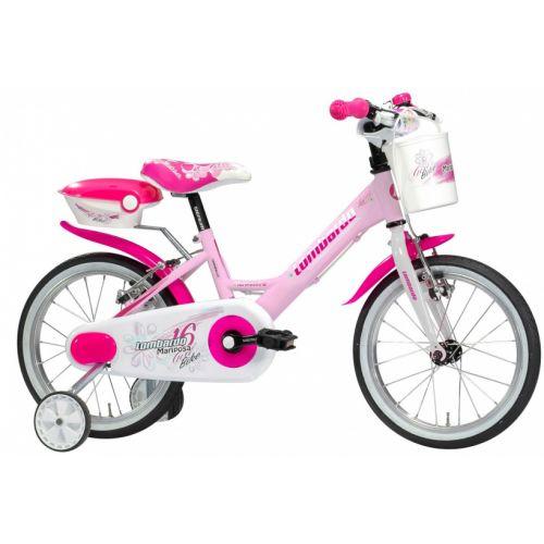 Mariposa 16 Inch 23 cm Meisjes V-Brakes Wit/Roze