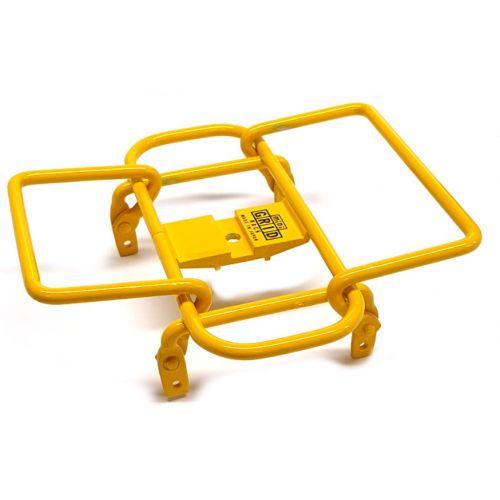 bagagerek Mini Grid stuur 14 x 14 cm staal geel