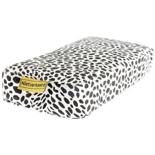 bagagedragerkussen Animal Dots wit/zwart 32 cm