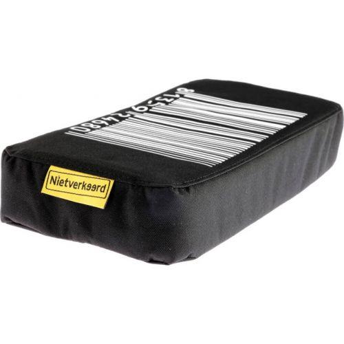 bagagedragerkussen Stripes zwart 32 cm