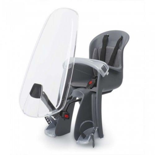 fietszitje voor Bilby junior met windscherm zwart/grijs