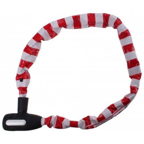kettingslot 90 cm wit/rood