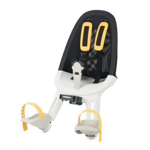 fietszitje Air voor junior mesh zwart/wit/geel