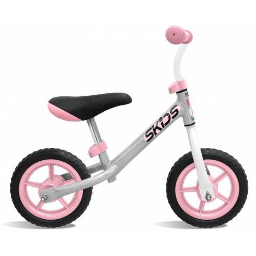 loopfiets 10 Inch Junior Grijs/Roze