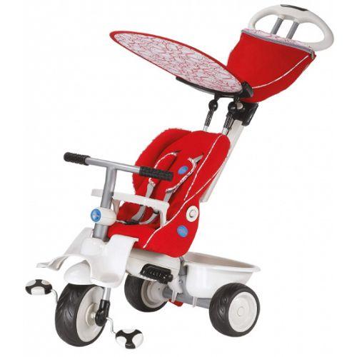 4-in-1-driewieler Recliner Junior Rood/Wit