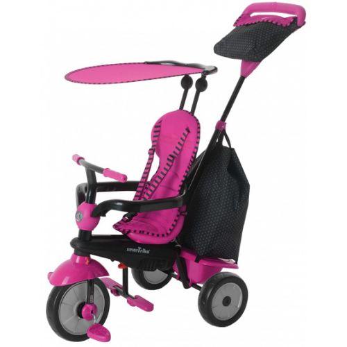 4-in-1-driewieler Glow Meisjes Roze/Zwart