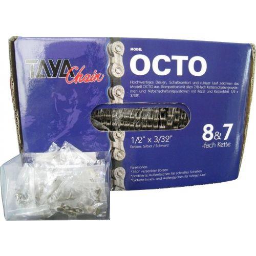 ketting op rol Octo-SB 1/2 x 3/32 30 meter staal zwart/zilver