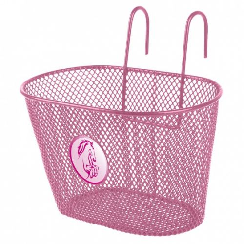 fietsmand 5 liter paard roze